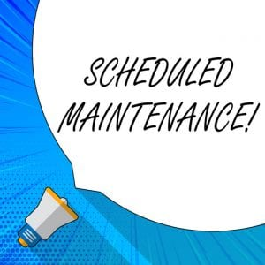 Steel Building Winter Scheduled Maintenance